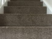 Carpet fitted on stairs