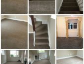 Carpet fitted on stairs collage